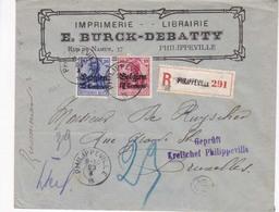 Enveloppe Recommandé Imprimerie E Burck Debatty 23 10 1915 - Guerre 14-18