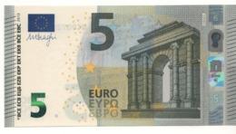 """5 EURO  """"UA""""     Firma DRAGHI   U 004 D1    Serie UA3081545229 /  FDS - UNC - EURO"""