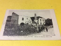 RAVES. Ruines De Guerre Editeur. Emmanuel De. Granges Sur.  Vologne. Attelage Anes.   3/18 - France