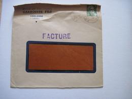 1947 Sté GARROUSSE  CHALABRE (AUDE) T.B.E. - Marcophilie (Lettres)