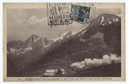 CPA 74 Haute Savoie Rare St Saint Gervais Les Bains Le Train Du Mont Blanc Après Bellevue Près De Chamonix Passy Megève - Saint-Gervais-les-Bains