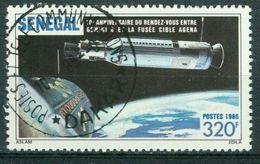 BM Senegal 1987 | MiNr 913 | Used | Koppelmanöver Zwischen Gemini 8 Und Einer Unbemannten Agena Zielrakete - Senegal (1960-...)