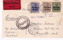 Carte Envoi Expres 15 06 1917  Turnhout Censure - Guerre 14-18