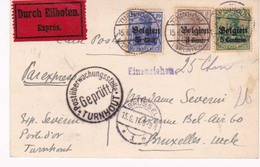 Carte Envoi Expres 15 06 1917  Turnhout Censure - WW I