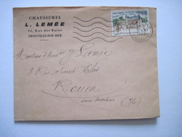1965 Chaussures LEMEE Trouville Sur Mer Calvados - Marcophilie (Lettres)