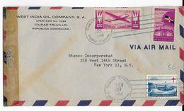 REPUBLICA DOMINICANA - 1944 - ENVELOPPE COMMERCIALE ESSO (PETROLE) Avec CENSURE US  => USA - Dominicaine (République)