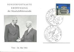 Sonderpostkarte Eröffnung Der Moselschiffahrtsstrasse Trier 26. Mai 1964 Bund 419 - Geologie