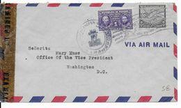 PANAMA - 1943 - ENVELOPPE Avec CENSURE => USA - Panama