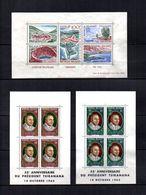 Madagascar   1962-63  .-  Y&T  Nº   2-3/4     Blocks - Madagascar (1960-...)