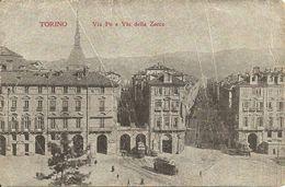 Torino (Piemonte) Via Po E Via Della Zecca - Musei