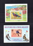 Madagascar   1975  .-  Y&T  Nº   8-9     Blocks - Madagascar (1960-...)
