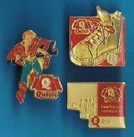 3 PIN'S //   ** LOGO ** QUICK ** - Badges