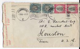 AFRIQUE DU SUD - 1940 - ENVELOPPE Avec CENSURE De JOHANNESBURG Avec MECA => USA - Briefe U. Dokumente