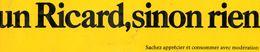 Autocollant UN RICARD SINON RIEN - Stickers