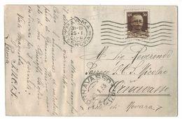 XA161   Storia Postale Cartolina 1933 - Annullo Frazionario Ornavasso (41-176) - 1900-44 Vittorio Emanuele III