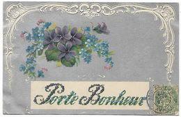 CARTE GAUFFREE PORTE BONHEUR - Fancy Cards