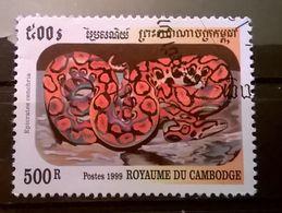 FRANCOBOLLI STAMPS CAMBOGIA CAMBODGE 1999 SERIE SERPENTI - Cambogia