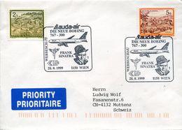 31575  Austria, Special Postmark 1999 Wien,  Lauda Air, Boeing Frank Sinatra, - Musica