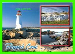 PHARES - LIGHTHOUSE - PEGGY'S COVE, NOVA SCOTIA,  3 MULTIVUES - DIMENSION  12 X 17cm - - Phares