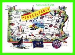 CARTES GÉOGRAPHIQUES - MAP - GREETINGS FROM PENNSYLVANIA IN 1979 - - Cartes Géographiques