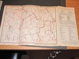 SNCB Plan Du Réseau OURTHE ET AISNE Avec Carte Et Programmes Anno 1938 - Cartes