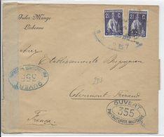 1917 - ENVELOPPE Avec 2 CENSURES FRANCE ET PORTUGAL De LISBONNE => PARIS - 1910-... République