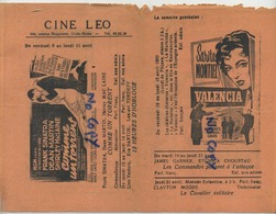 Cinema LEO : Uccle - Ukkel Globe :  Cine ALFA  (  Ciné Brochure 22 X 16 Cm ) Audrey Hepburn - Frank Sinatra - - Vieux Papiers