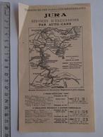 TRANSPORT TOURISME  CHEMINS DE FER PLM JURA SERVICE EXCURSIONS PAR AUTO-CARS 06/1914 - Europe