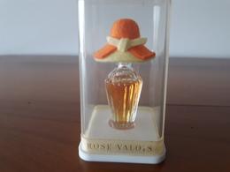 """Rose VALOIS """"Marotte""""Chapeau Orange Et Jaune Dans Sa Boîte Transparente  6cm - Miniatures (avec Boite)"""