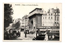 75 - PARIS . BOULEVARD ET PORTE SAINT-MARTIN - Réf. N°7902 - - Francia