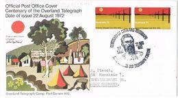27778. Carta Centenary Telegraph OVERLAND (Australia) 1972. Port Darwin - 1966-79 Elizabeth II