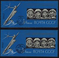 UdSSR CCCP Sowjetunion - 1962 - Erste Sowjetische Kosmonauten - MiNr 31A + 31B - Raumfahrt