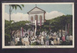 CPA SEYCHELLES - MAHE - Mahé - Roman Catholic Cathedral Victoria - SUPERBE ANIMATION RELIGION - Seychellen