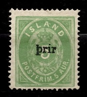 Islande YT N° 19 Neuf *. Gomme D'origine Et Signé. B/TB. A Saisir! - Ungebraucht