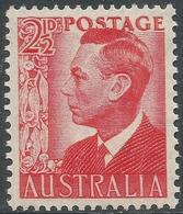 Australia. 1950 KGVI. 2½d Red MNH. SG 234 - Mint Stamps