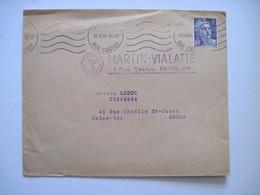 1945 MARTIN VIALATTE  LE GENIE PARIS IV Eme - Marcophilie (Lettres)