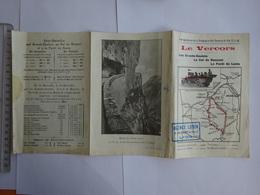 PUBLICITÉ  DEPLIANT LE VERCORS EN AUTOMOBILE HORAIRES PARCOURS - Europe