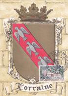 Carte-Maximum FRANCE N° Yvert 1483 (LORRAINE) Obl Sp Ill 1er Jour Nancy (Ed BD 1294 G) RR - 1960-69