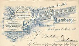 Pologne/Poland - Lemberg Entête Du 8 April 1898. Liquer Rosoglio U.Rum Fabrik - Johann Klimkiewicz - Invoices & Commercial Documents