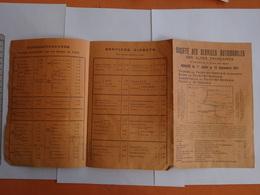 PUBLICITÉ  DEPLIANT SOCIETE SERVICES AUTOMOBILES ALPES FRANCAISES 1911 THONES FAYET SAINT GERVAIS - Europe