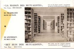Buvard Vloeipapier - La Maison Des Mutualistes - Huis Der Mutualisten - 50 Apotheken - Pharmacies - Buvards, Protège-cahiers Illustrés