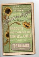 Photo: Catalogue Lumière Et Jougla De Produits Photographiques - Advertising