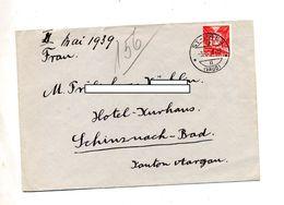 Lettre Cachet Saint Prex Sur Rail + Schinznach - Postmark Collection