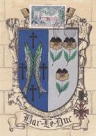 Carte-Maximum FRANCE N° Yvert 1483 (LORRAINE) Obl Sp Ill 1er Jour Bar Le Duc (Ed BD 1325 U) RR - 1960-69
