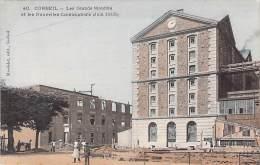 91 CORBEIL ESSONNES  Grands Moulins & Nvles Constructions - Publicité Au Verso CAFE TABAC Mon LEGUEVELLOU - CPA - Corbeil Essonnes