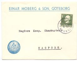 Enveloppe Kuvert - Pub Reklam  Einar Moberg & Son Göteborg - Till Hagfors Sverige Suède Zweden - Suède