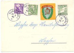 Brevkort - Briefkaart - Stempel Munkfors 1945 - Hagfors - Suède