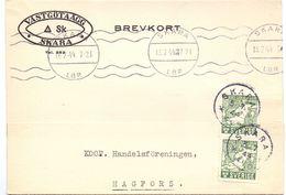 Brevkort - Briefkaart - Stempel Skara 1944 - Hagfors - Pub Reclame Vastgötaägg SK - Suède
