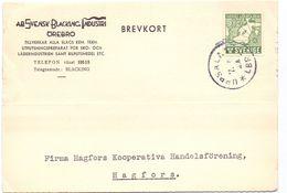 Brevkort - Briefkaart - Stempel Uppsala 1944  - Hagfors - Pub Reclame Svensk Blacking Ind. - Örebro - Suède