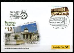 "Germany 2012 Ausstellungsbeleg Stampex,London Mit Mi.Nr.2893""Pinakothek,München.""u.SST""Bonn-STAMPEX,London""1Beleg - BRD"